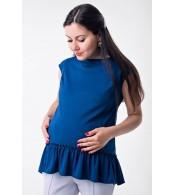 Блузка с рюшей Marmaris для беременных и кормящих,  электрик