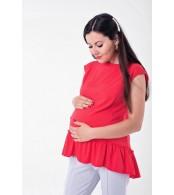 Блузка с рюшей Marmaris для беременных и кормящих,  корал