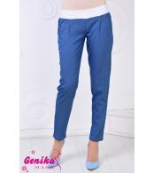 Брюки для беременных из джинсовой ткани, синий