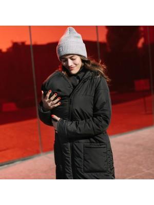 Зимняя слингокуртка 3 в 1  Love & Carry®  —  Черная
