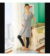 Трикотажное платье для беременных  esmara, серый меланж