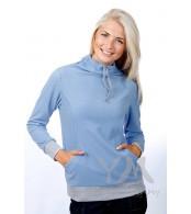 Толстовка голубая с завязками для беременных и кормящих мам